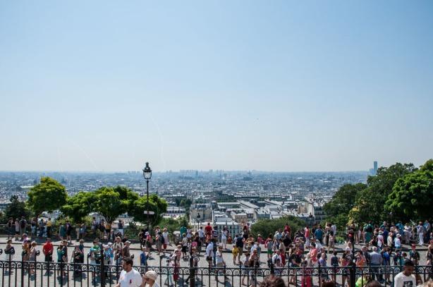 Vaizdas nuo Sacré-Cœur katedra ant Monmartro kalvos į Paryžiaus miestovaizdį | Kelionės | Paryžius | Darau, blė