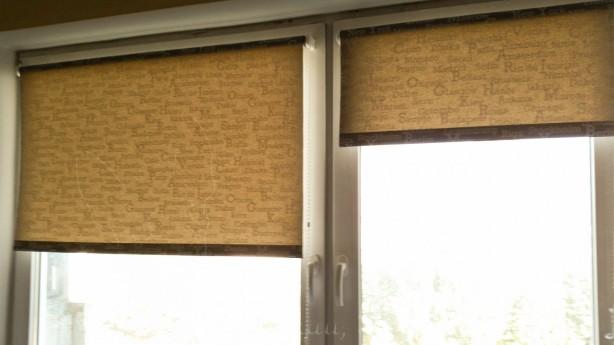 Ant lango rėmo pakabinti roletai   Darau, blė