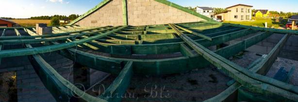 Pirmosios horizontaliosios gegnės virš garažo | Statybos | Darau, blė