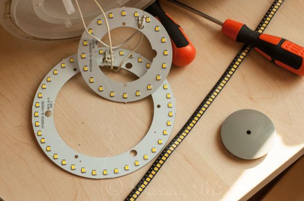 Išardytas sugedęs lauko LED šviestuvas   Darau, blė